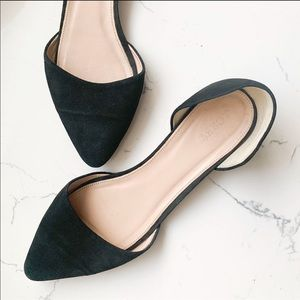 Jcrew black pointed flats 9.5